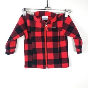 COLUMBIA Red & Black Checkered Plaid Flannel Baby